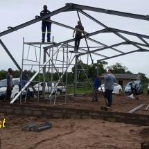 Construction of Snap Church for Pastor Innocnece of Hope Bible Church in Esikhaleni, Richards Bay, Kwazulu-Natal